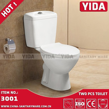 New design Bathroom round washdown toilet two piece commode