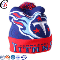 Chengxing wholesale acrylic toque quality fashion winter outdoor acrylic crochet ski sport design toque knitted beanie hat