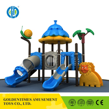 Custom smelless new large residential plastic kids outdoor playground equipment