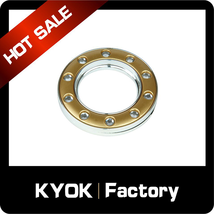 KYOK 22mm metal curtain rings with amazing price,GP/CP colour drapery pull rod rings