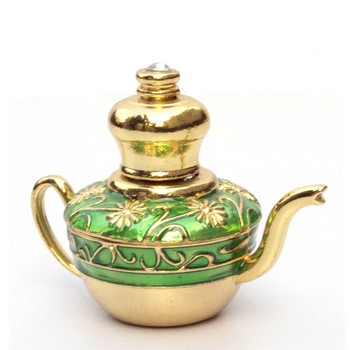 Design Your Own 3ML Teapot-Shape Perfume Bottle with Screw Dropper Cap for Arabic Essential Oil Filling Use