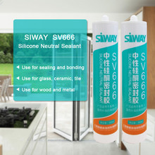 baiyun brand window silicone sealant, white silicone sealant for outside