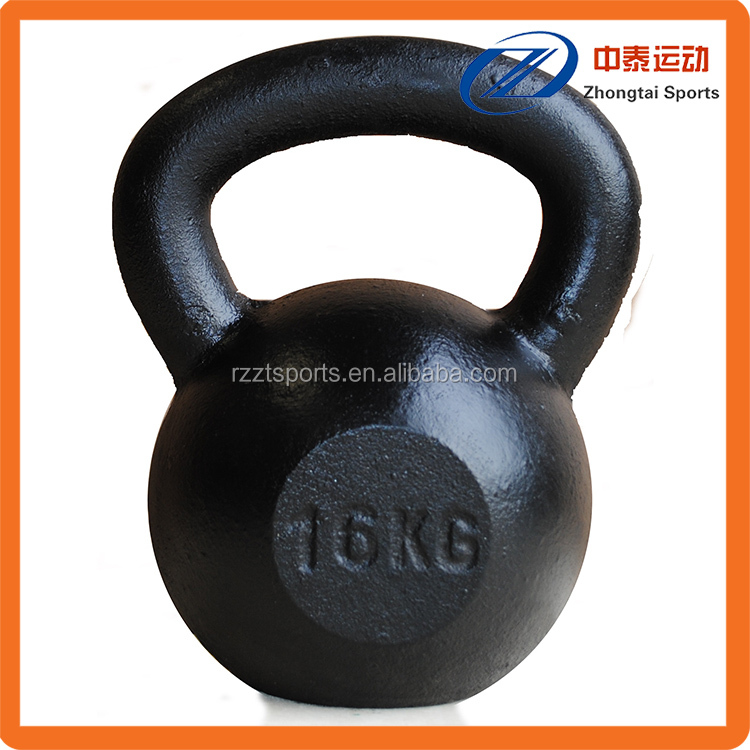 solid cast iron painted kettle bell set
