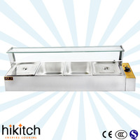 Factory supply commercial electric 4 pans Hot Table top bain marie food warmer with competitive pricess