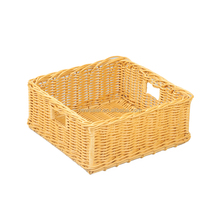 PP rattan rectangle fruit packing basket with handle