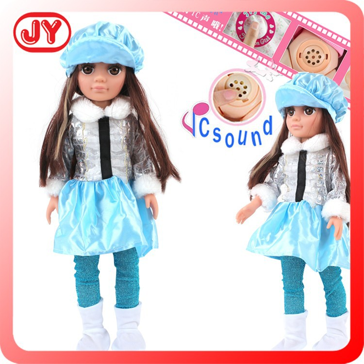2015 new toys baby big eyes 18 inch doll manufacturer china for wholesale with IC sound and EN71