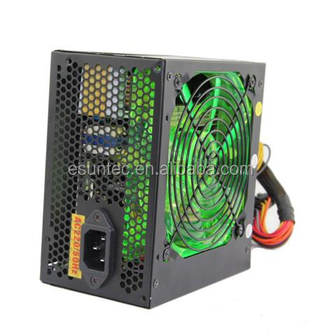 ATX Power supply for PC with larger green fan PSU-014