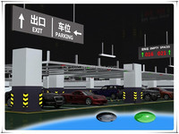 smart time-saving parking guidance systems in underground car garage for finding free parking slots quickly