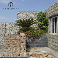 factory direct sale natural stone gabion wall cladding decorative garden fence