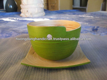 Special design bamboo bowl, coiled bamboo bowl