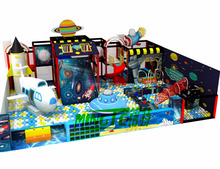 School Children Used Inflatable Indoor Playground Equipment Price with space Theme Design