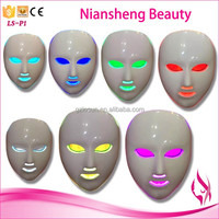 2016 face lifting beauty equipment Factory offer price led face mask with red blue green color led light therapy facial