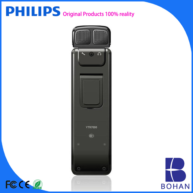 PHILIPS 2016 4GB 8GB PCM Stereo Recording with Double Speakers MP3 WAV Mini Tape Recorders