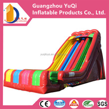 30ft large inflatable rainbow slide,adult size big slide,new design funny playground inflatable slide for kids and adults