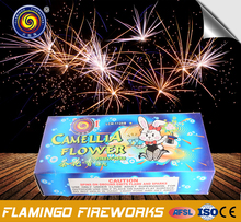 Trade assurance Camellia Flower fireworks triangle wheel