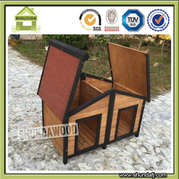 SDD12 double wooden dog kennels cages