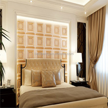 decorative bedroom embossed leather wall panels