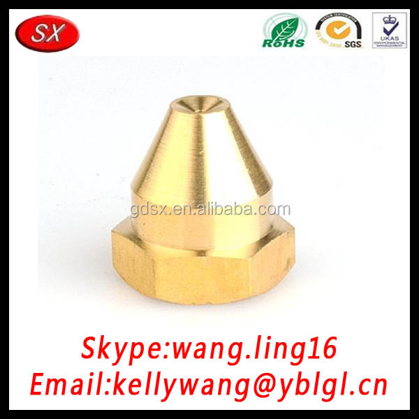 China Golden Supplier OEM/OEM High Precision Hex Brass Nozzle, CP Nipple, Magnetic Hardare Nipples