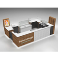 Wooden modern food kiosk design for frozen yogurt kiosk roller cake kiosk