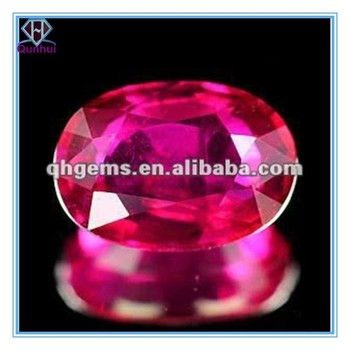 Bling bling red oval shaped cubic zirconia jewelry