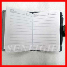 faux leather notebook with button,leather executive notebook