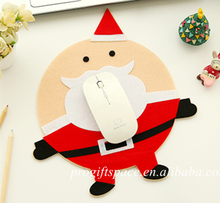 2017 new hot selling products wholesale cute cartoon table mat Santa Claus computer mouse pad unisex Christmas gift for kids