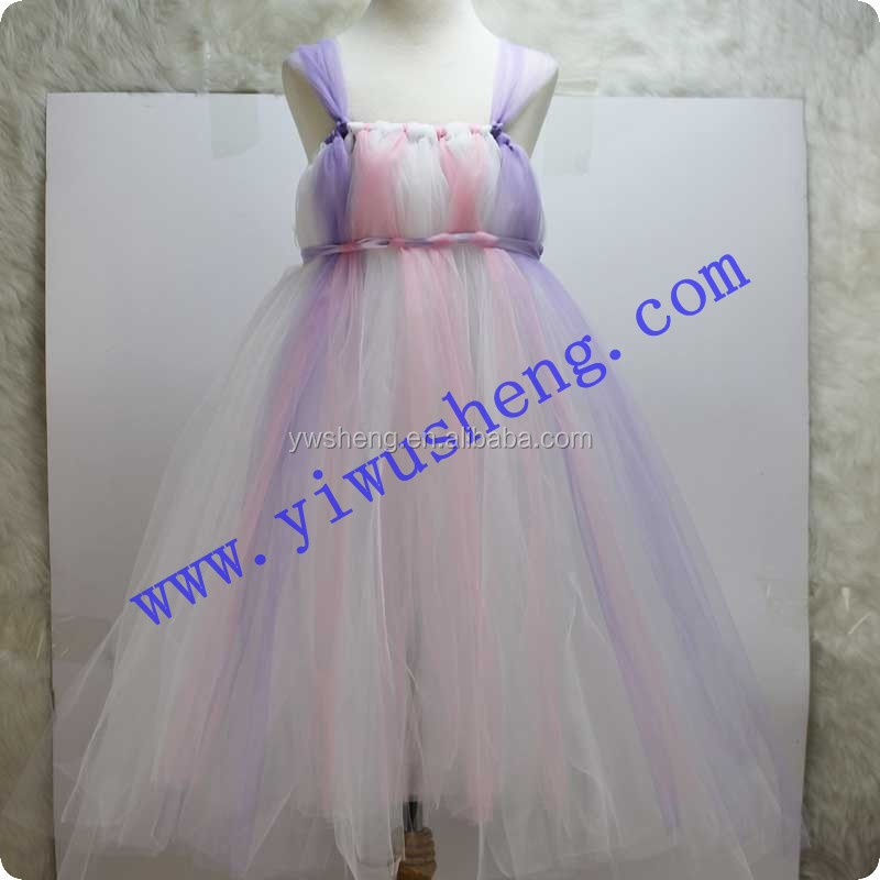 Factory Latest Beautiful Soft Tulle Pink Girls Party Wear Dress Girls Dresses Wedding Party Girl Dress