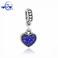 Most Popular Products for 2016 Blue Rhinestone Heart Charms Wholesale Druzy Beads for Jewelry