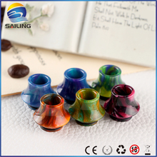 Sailing new arrival colourful high quality Epoxy Resin drip tips for TFV8/TFV12 Griffin 25 RTA atomizer full stock