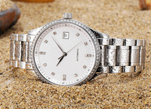 Mecano High Quality Automatic Mechanical Watch,Handsome Ultra-thin Watch With Diamonds For Men