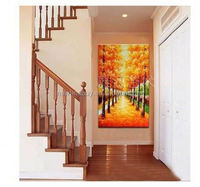 Free Shipping!!! Huge Handpainted Oil Painting on Canvas Wall Art, I love my family, Home Decoration SY297