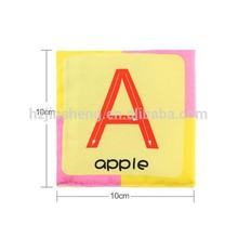 Wholesale education letter card cloth book