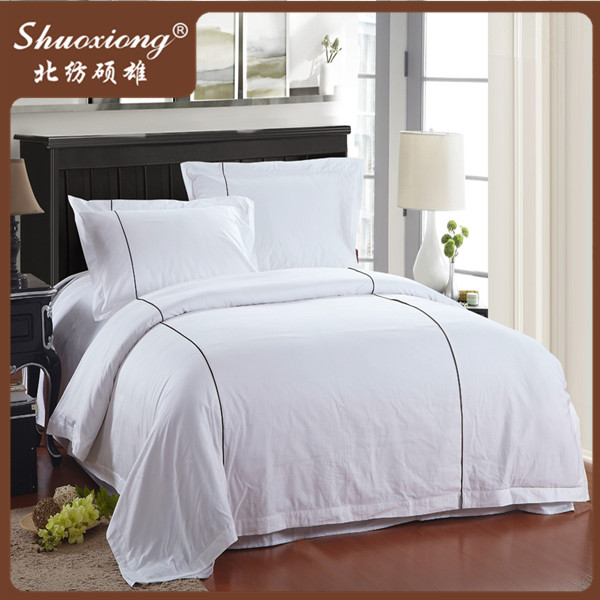 100% cotton white wholesale custom nursing home bedding