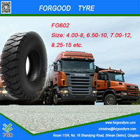 DOT CCC ISO high quality mining truck tyres with China cheap price 4.00-8, 5.00-8, 6.00-9, 7.50-12, 8.25-15