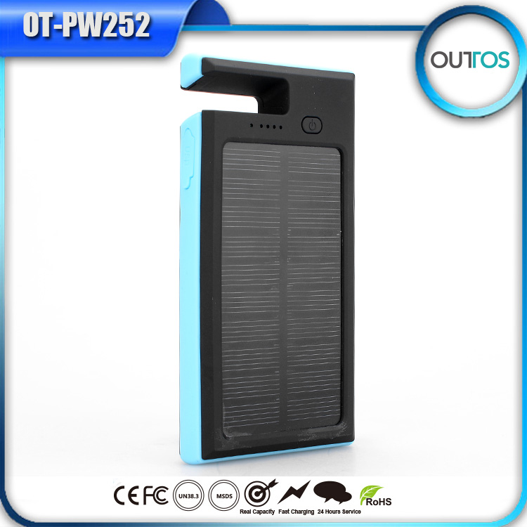 Solar charger 8000mAh solar power bank and portable solar battery for iPhone/samsung/iPad/Camera/MP3/MP4/Game pla