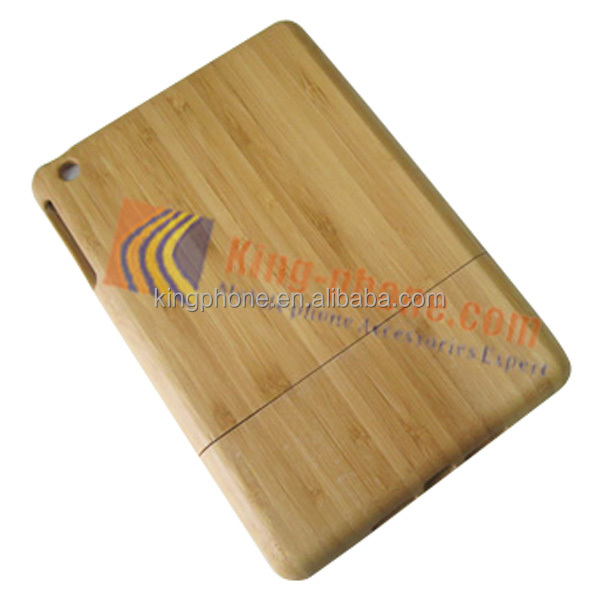Carbonized bamboo case real wood shell protective back cover for ipad mini