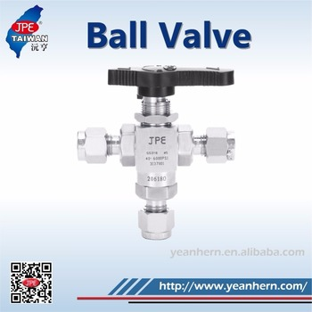 Professional Production Line Manufacturing 1/2'' Tube End 3 Way Ball Valve
