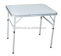 white aluminum picnic folding table,lightweight tourism table