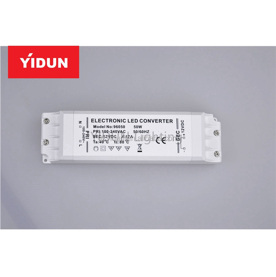 YIDUN Lighting High PF 60W AC110-240V LED Driver 5000mA DC12-24V LED Power Supply Constant Current
