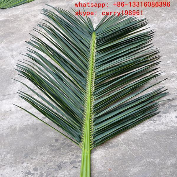 LXY071907 wholesale coconut palm leaves roof plastic artificial palm tree leaves