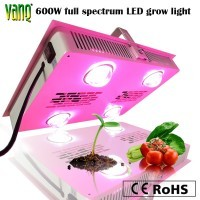 full spectrums-sunshine light, dimming function integrated 600w LED grow light for indoor herb plants
