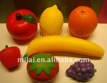 PU apple,lemon, banana,strawberry,grapes,orange