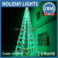Outdoor wire christmas tree fancy led acrylic christmas cone tree outdoor with high quality