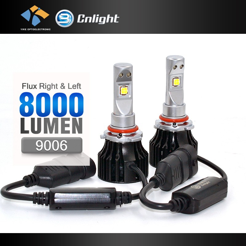 YIKE-CNIGHT car led headlight 9006 led head lamp led light car led headlight 9005 9006 hb4 55w p6 led headlight