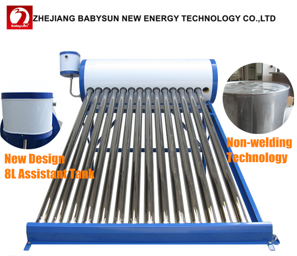 Hot Selling Low Price High Quality unpressured galvanized steel jain solar water heater