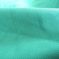 green polyester lacoste pique polo knit fabric