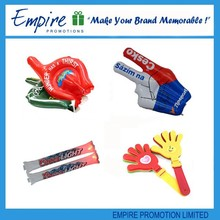 Promotional PE inflatable cheering stick,thunder stick,noise maker,bang bang stick