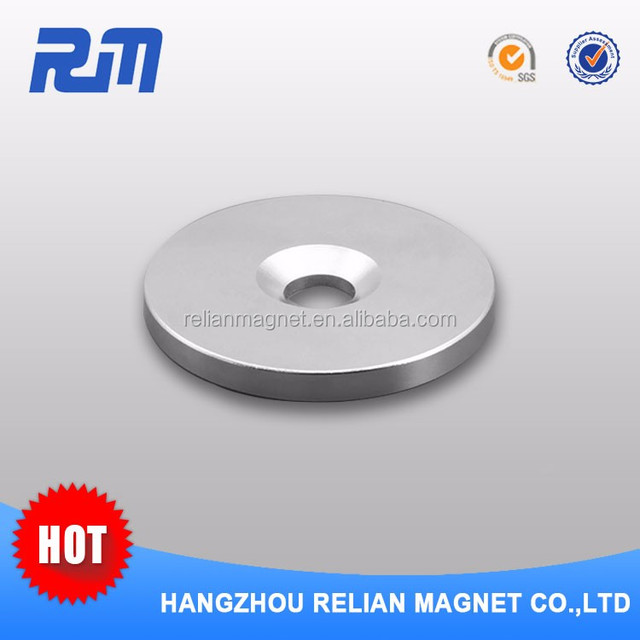 Free sample rare earth china manufacture magnet with counter sunk hole