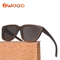 Ready made fast delivery Laser-engraved logo wood sunglasses bamboo sunglasses