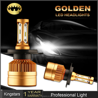 New Auto Parts Accessories High Power 4000lm H4 Gold S2 LED Headlight H7,H8,H9,H11,9005,9006
